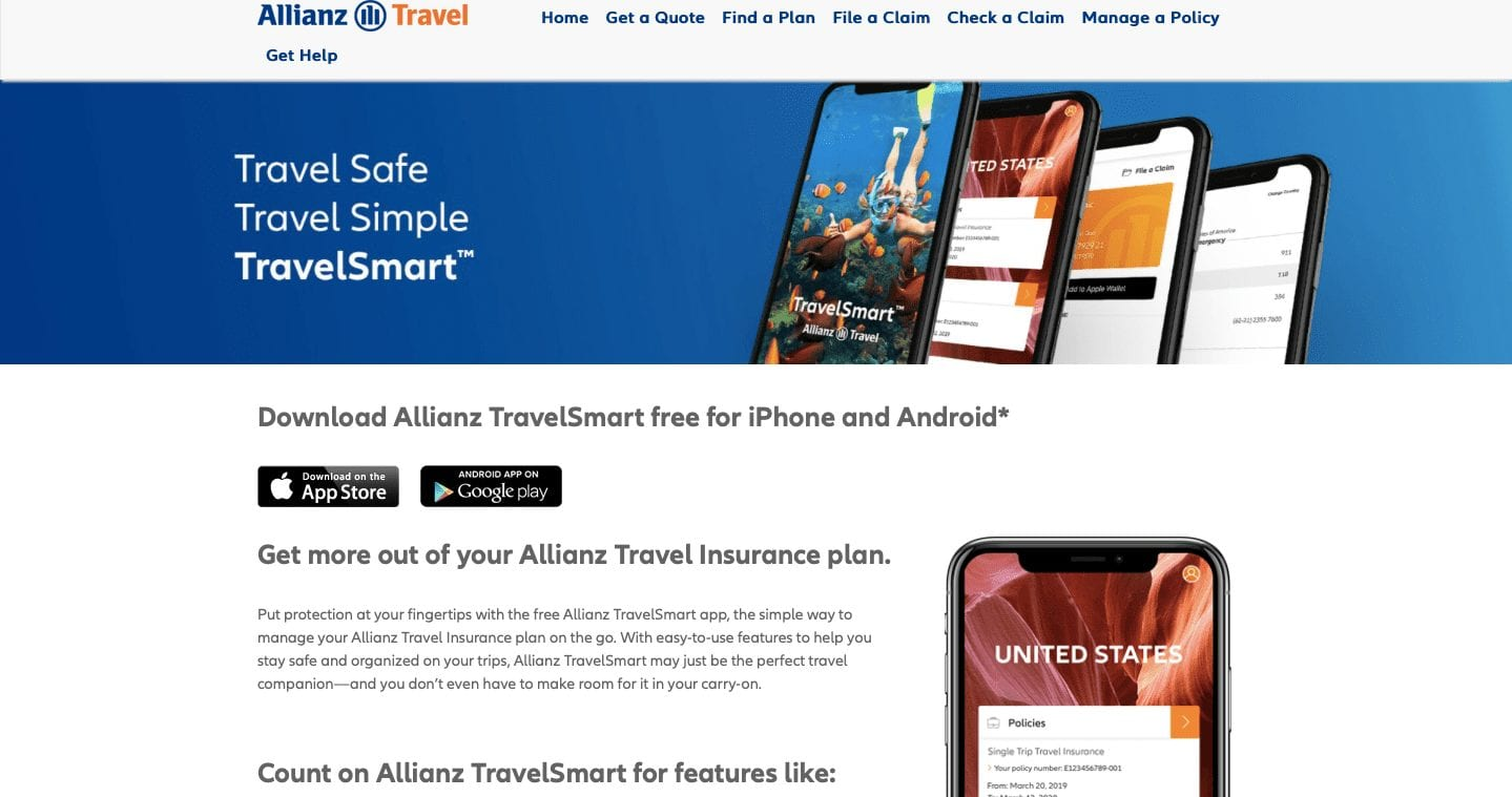 Travel & Life Insurance App — TravelSmart by Allianz