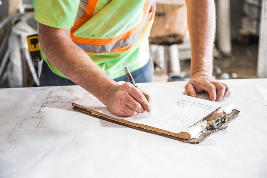 Construction management software process