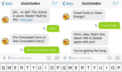 DisorDatBot research poll chat bot