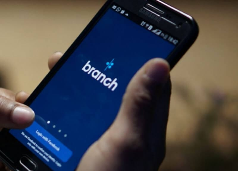 Branch app on mobile phone