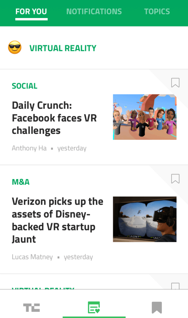 TechCrunch tech news app