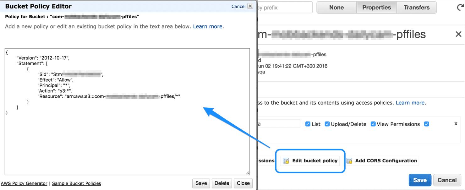 Configuring Amazon Bucket Policy