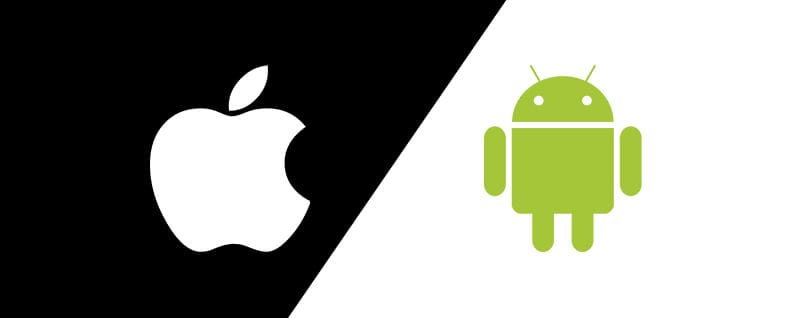 logos of android and apple