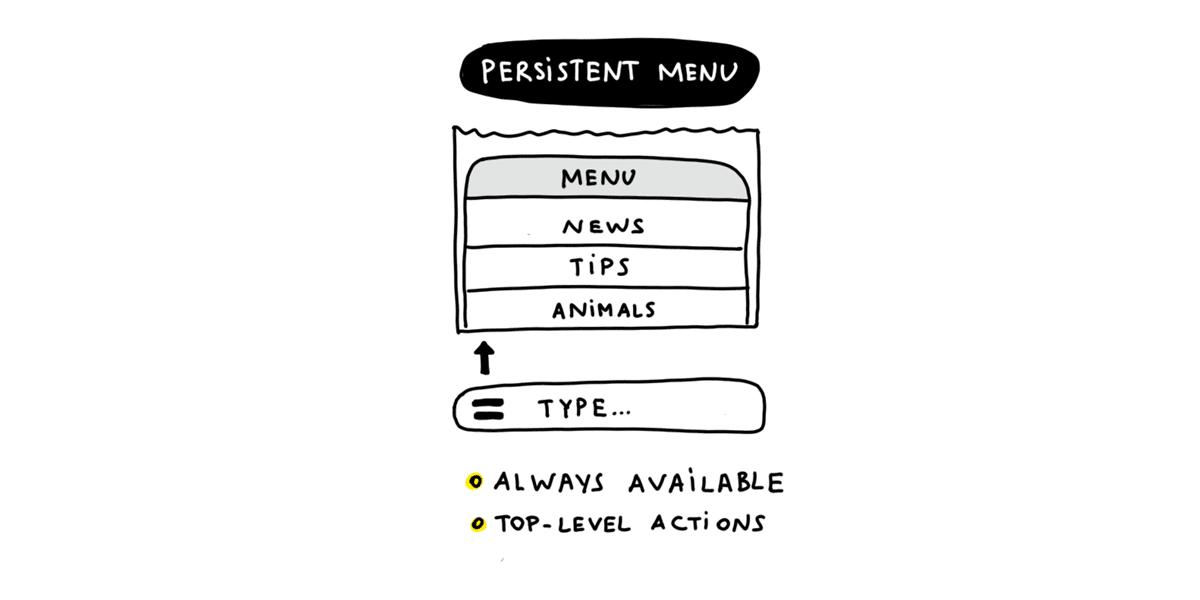 Using persistent menu in chat bot development