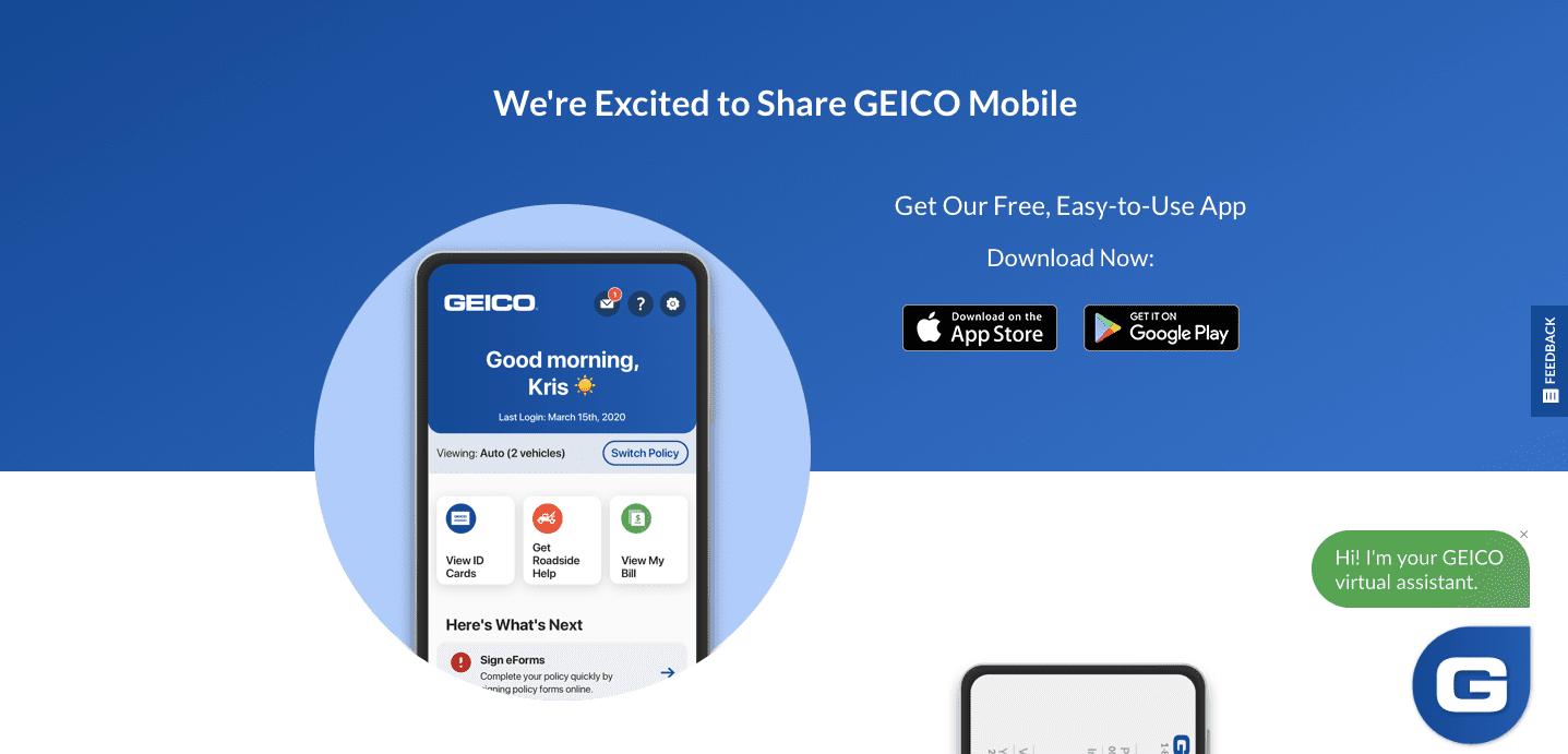 Auto Insurance App — Geico Mobile