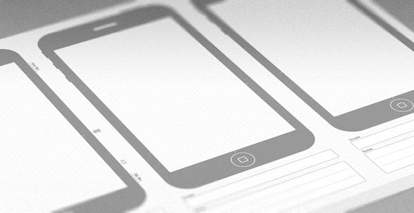 iPhone 5 Sketching Template Picture