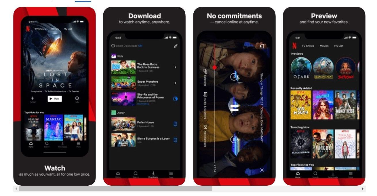 Netflix TV apps