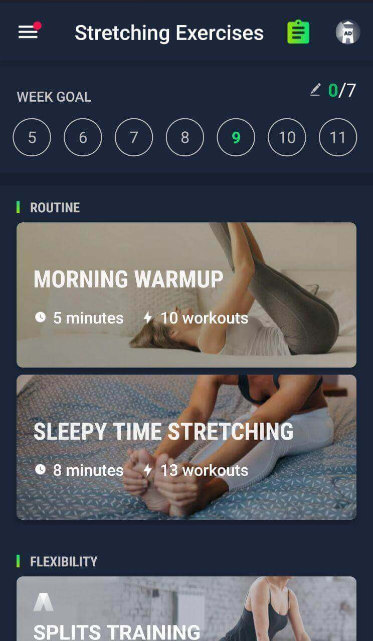 Stretching Exercises at Home Fitness App