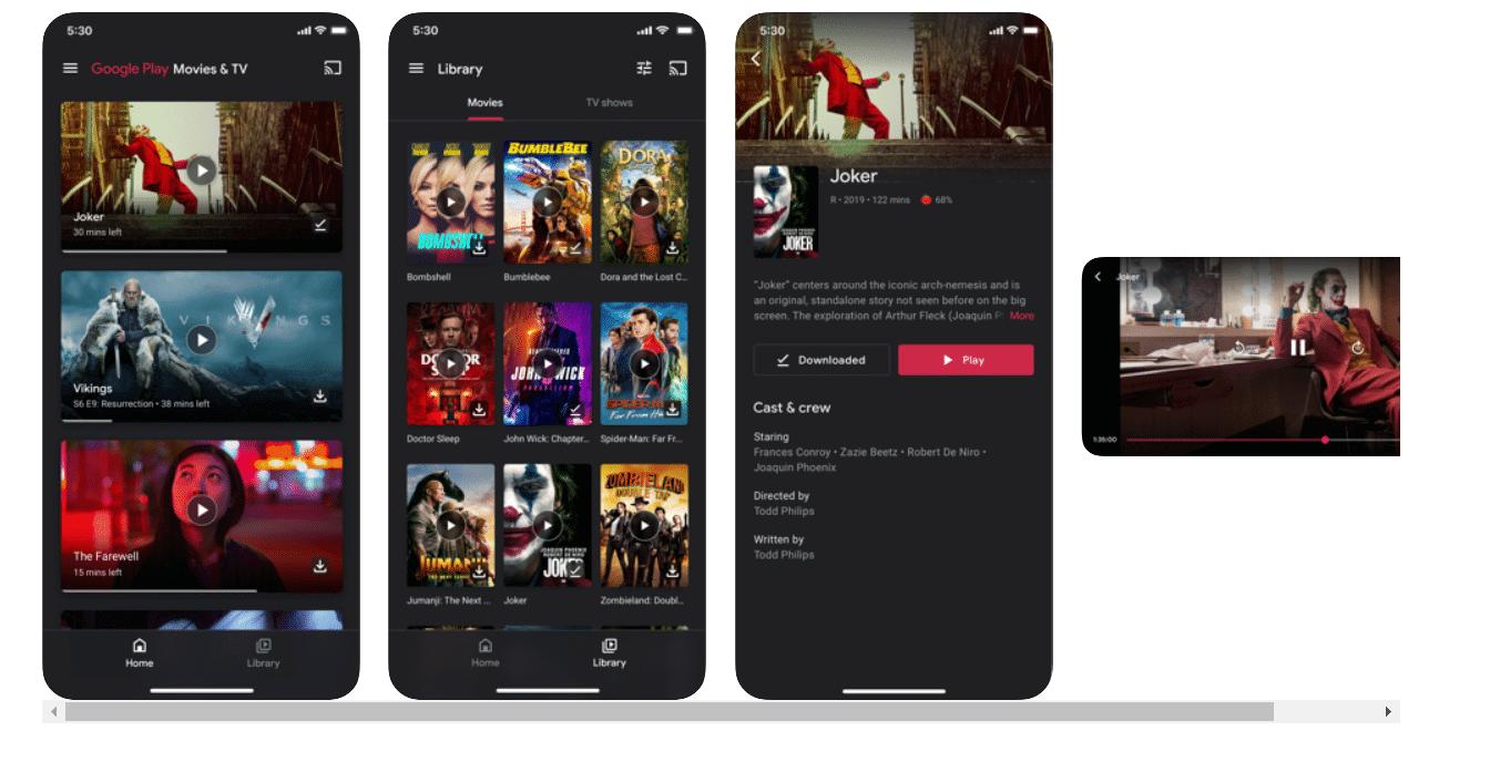 Google TV apps