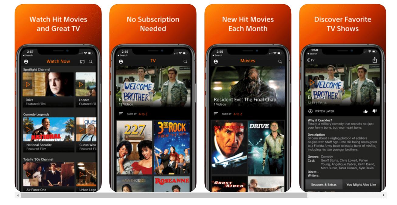 Crackle TV apps