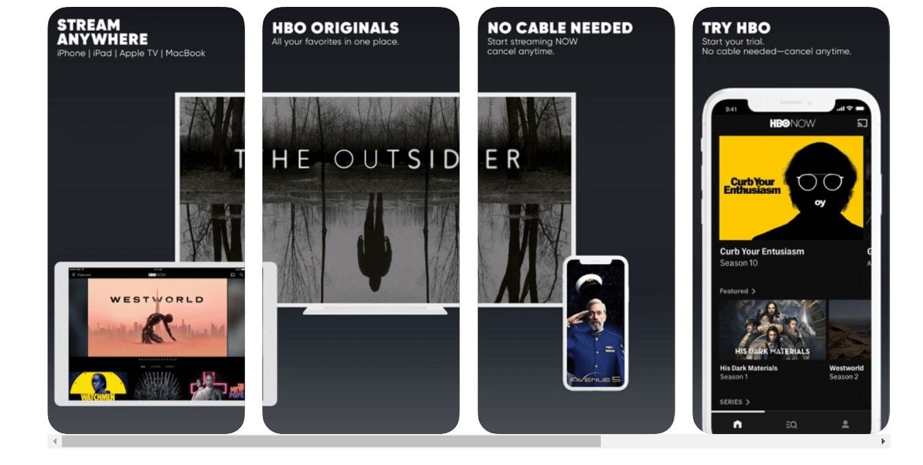 HBO TV apps