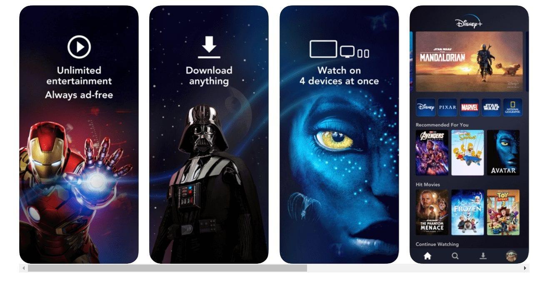 Disnep TV apps