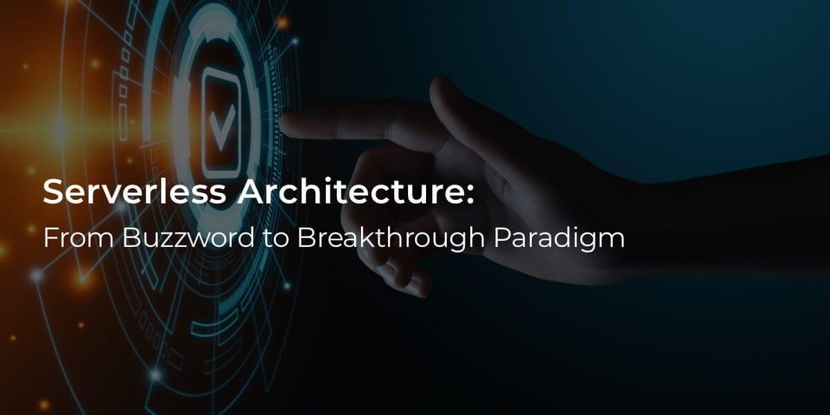 serverless architecture blog post one